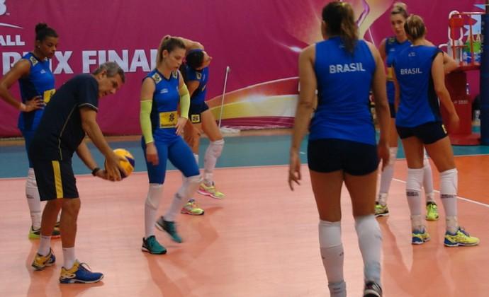 Treino seleção feminina vôlei (Foto: João Gabriel Rodrigues)