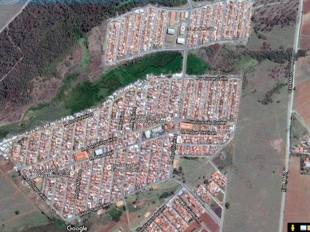 Região do Bosques do Lenheiro e Jardim Gilda em Piracicaba (Foto: Reprodução/Google Earth)