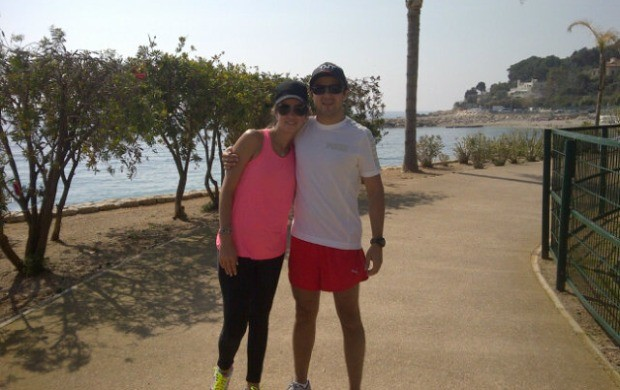 Massa e a esposa Rafaella, em Mônaco (Foto: Reprodução)