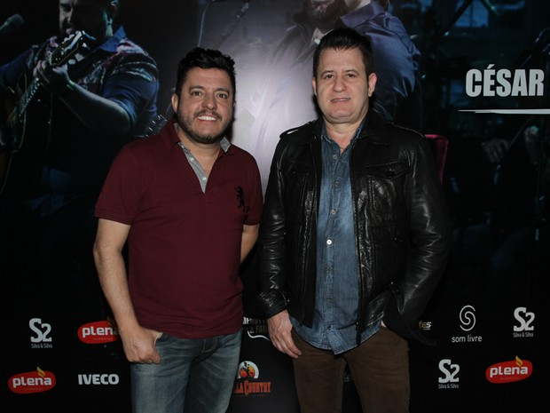 Bruno e Marrone  em gravação de DVD em São Paulo (Foto: Amauri Nehn/ Brazil News)