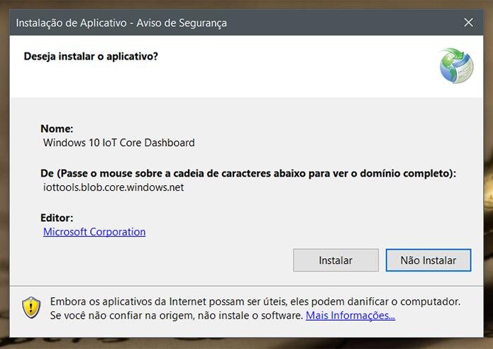 Baixe e instale o Windows IoT Core Dashboard em seu PC com Windows 10 (Foto: Reprodução/Filipe Garrett)