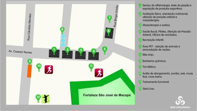 Mapa, Saúde de Rua, Amapá (Foto: Arte/Rede Amazônica)