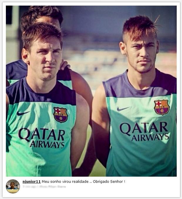 Neymar e Messe sonho realizado  (Foto: Reprodução / Instagram)