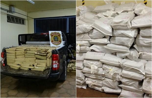 PF faz operação em conjunto com polícia do Paraguai contra tráfico de drogas, Goiás (Foto: Divulgação/PF)