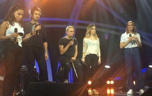 Anitta ensaia com Mel C, Sandy, Maria Gadú e Tiago Iorc; veja vídeos