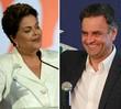 Acompanhe a disputa entre Dilma e Aécio (Evaristo Sá/AFP; Eugenio Savio/AP)