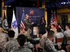 Michelle Obama visita tropas americanas no Qatar
