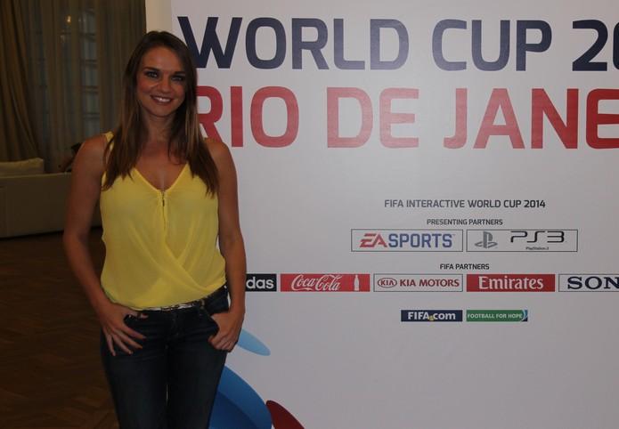Kay Murray é comentarista do FIWC (Foto: Diego Borges / TechTudo)