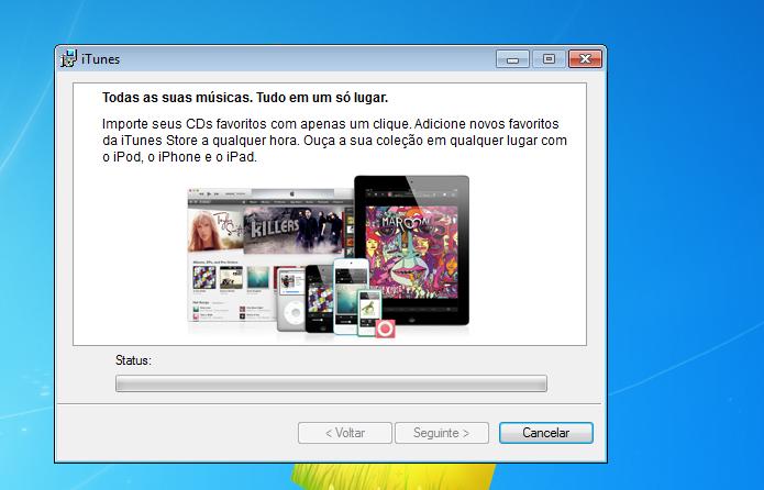 Instalando o iTunes no Windows (Foto: Reprodução/Edivaldo Brito)
