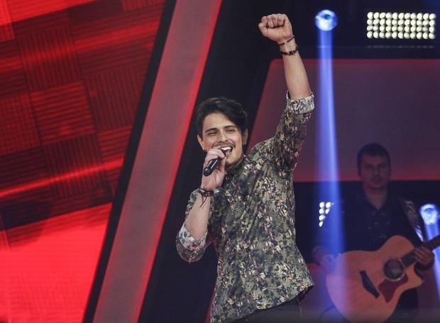 Catarinense Dan Costa no The Voice Brasil (Foto: Gshow)