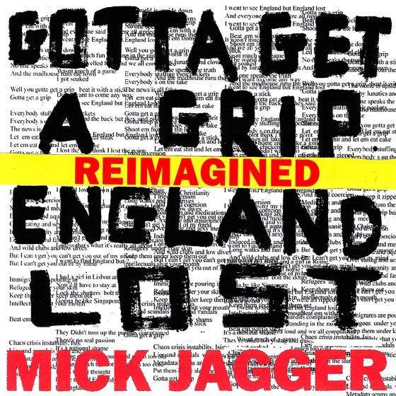 Capa do EP solo de Mick Jagger. O disco leva o nome das duas novas músicas: Gotta get a grip/England lost (Foto: divulgação)