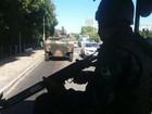 Blindado é usado em patrulhamentos do Exército nas ruas de Natal