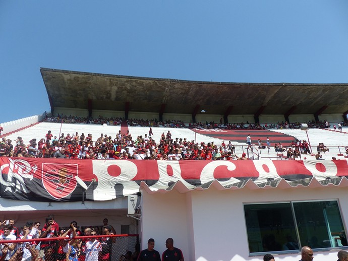 Torcida, Treino do Flamengo (Foto: Carlos Mota / Globoesporte.com)