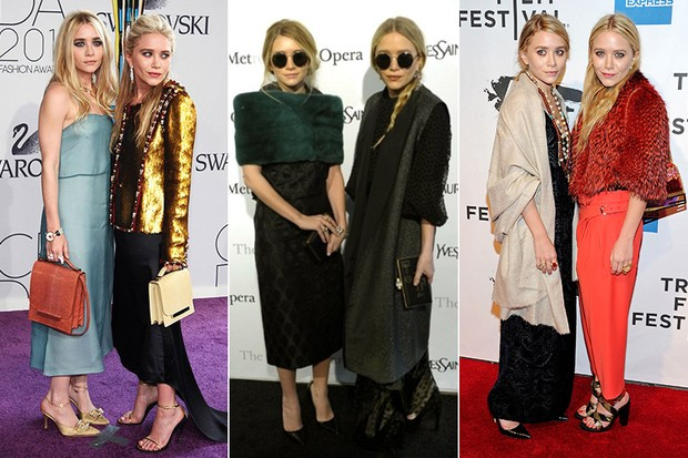 Estilo - Ashley e Mary Kate Olsen (Foto: Reuters || AFP || Getty Images)