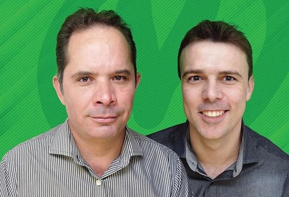 Diovane Policarpo de Castro (E) e o vice, Jair Cordeiro Valadares Neto: prefeito e vice, respectivamente, em Maravilhas (Foto: PV/Divulgação)