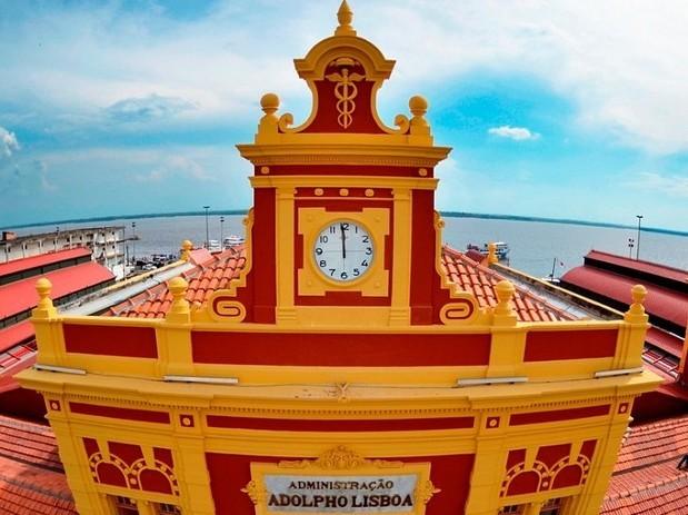 Mercado Adolpho Lisboa reabre no aniversário de 344 anos de Manaus (Foto: Tácio Melo/Semcom)