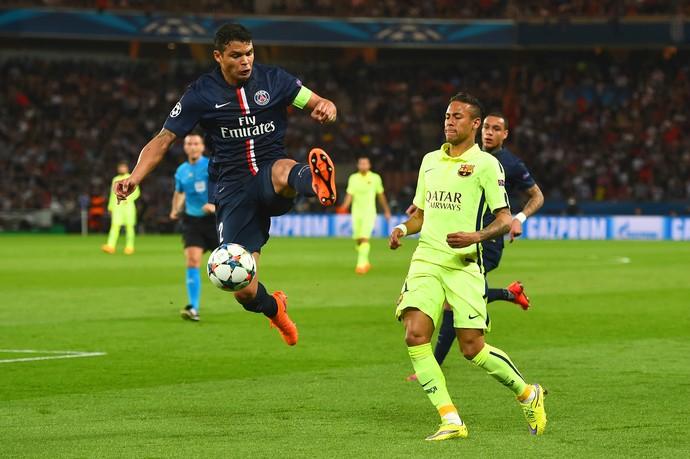 Thiago Silva PSG Barcelona (Foto: Getty Images)