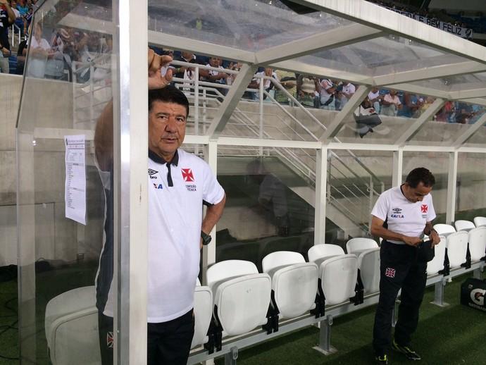 Joel Santana, técnico do Vasco - América-RN x Vasco (Foto: Augusto Gomes/GloboEsporte.com)