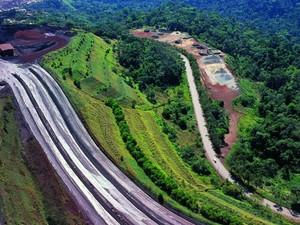 Vista aérea da Mina de Ferro em Carajás, Pará (Foto: Divulgação)
