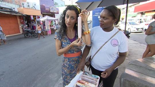 Geladinho de chiclete com chocolate é uma das inovações encontradas na Boca do Rio