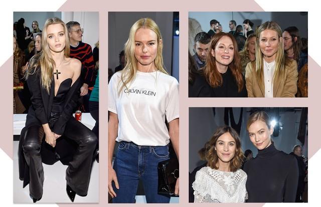 Primeira fila da Calvin Klein (Foto: Getty/ Dimitrios Kambouris / Staff)