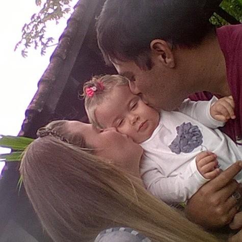 Debby, Duda e o marido dela, Leandro (Foto: Arquivo pessoal)