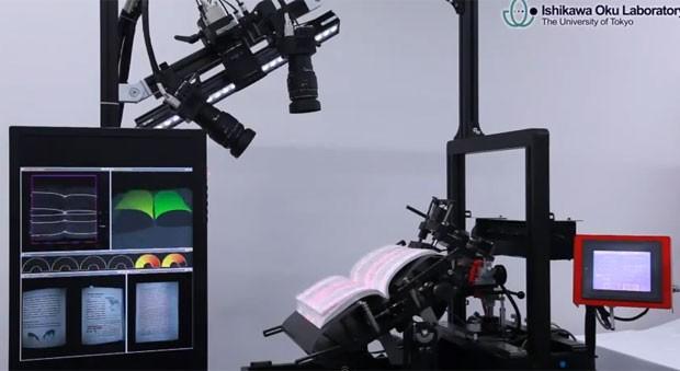 Robô escaneia 250 páginas por minuto (Foto: Divulgação)