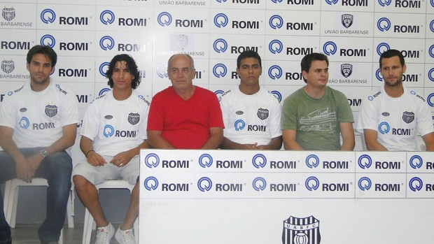 Alex, Rafael Silva, Dairo e Melinho - União Barbarense (Foto: Divulgação/UniãoBarbarense)