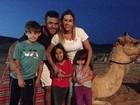 Vítor Belfort curte férias em família em Dubai