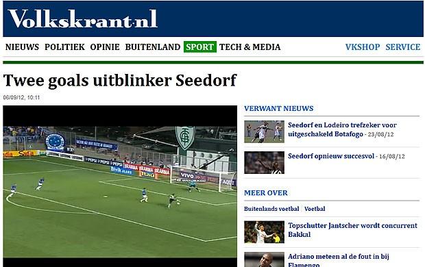 Seedorf partida jornais internacionais Botafogo (Foto: Reprodução / volkskrant)