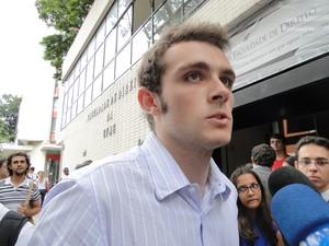 Presidente do Caap diz que repudia o trote (Foto: Raquel Freitas/G1)
