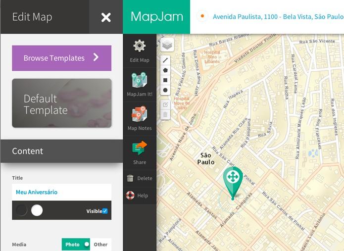 Clique em Edit Map para configurar seu mapa (Foto: Reprodução/André Sugai)