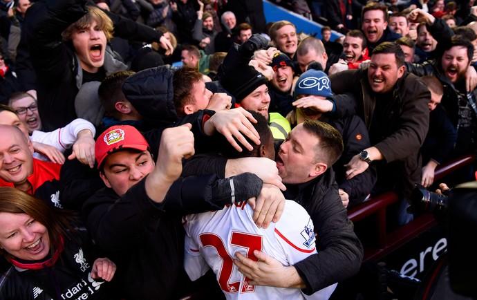 Divock Origi Liverpool x Aston Villa (Foto: Getty Images)