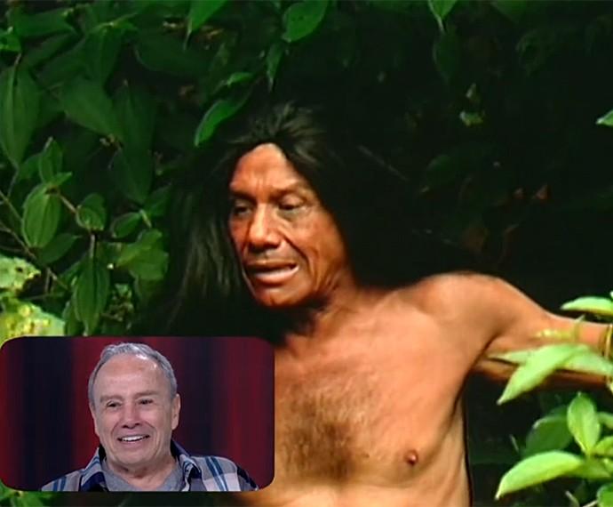 Stênio Garcia acha graça da vinheta de fim de ano da Globo (Foto: Vídeo Show / Gshow)
