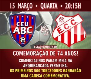 União ABC e Comercial se enfrentam no Morenão (Foto: Reprodução/Facebook)
