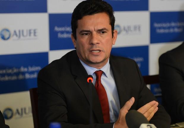O juiz federal Sérgio Moro participa de apresentação de um conjunto de medidas contra a impunidade e pela efetividade da Justiça, na sede Associação dos Juízes Federais do Brasil (Foto: Fabio Rodrigues Pozzebom/Agência Brasil)