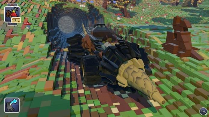 LEGO Worlds traz um mundo com maior liberdade na construção em relação a Minecraft (Foto: Reprodução/Steam)