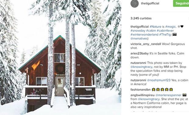 Cabana na Noruega onde Meghan Markle ficou hospedada com príncipe Harry (Foto: Reprodução/Instagram)