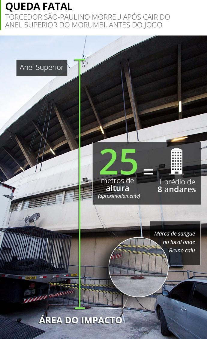 Info queda torcedor são-paulino (Foto: Agência Estado / Arte: Infoesporte)