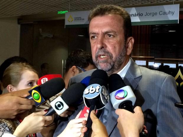 Vice-presidente da Câmara Legislativa do Distrito Federal, deputado Juarezão (PSB), em entrevista (Foto: Mateus Vidigal/G1)