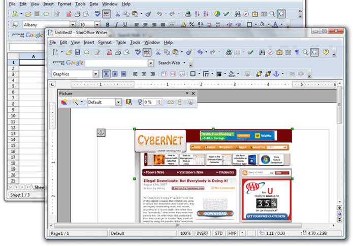 StarOffice contava com versão escondida de Frogger (Foto: Divulgação/StarOffice)
