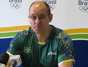 Morten Soubak, técnico da seleção  de handebol (Foto: Lydia Gismondi / Globoesporte.com)