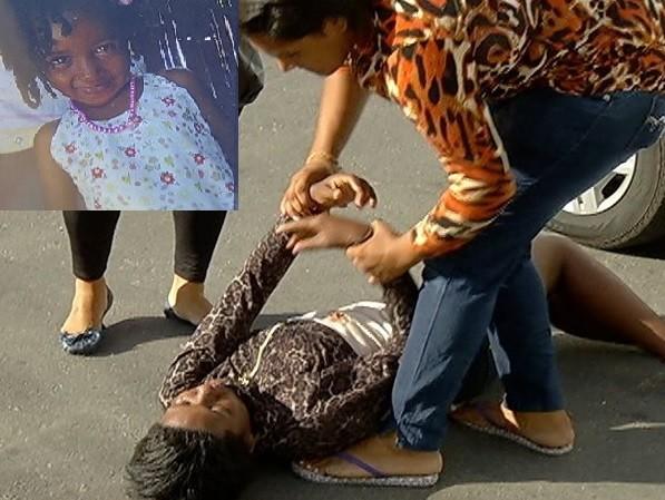 Mãe desmaia ao saber da morte da filha de 4 anos (Foto: Reprodução / Inter TV)