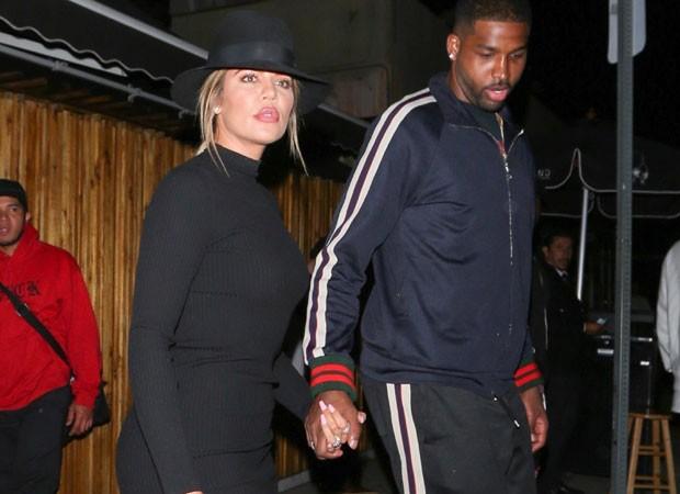 Khloé Kardashian e Tristan Thompson (Foto: AKM/GSI)