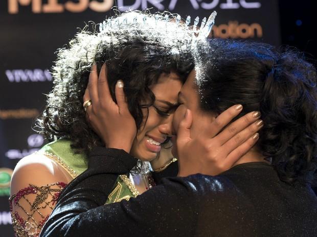 Raissa Santana se emocionou ao vencer concurso de Miss Brasil (Foto: Lucas Ismael/Divulgação Miss Brasil BE Emotion)