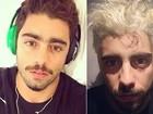 Pedro Scooby decide radicalizar e muda a cor do cabelo