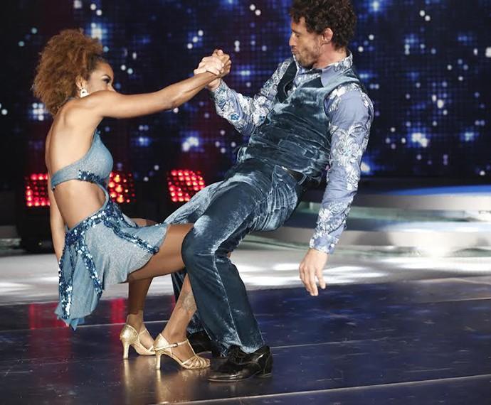 Coreografia de Flávio Canto e Ivi Pizzott agitou a plateia (Foto: Inácio Moraes/Gshow)