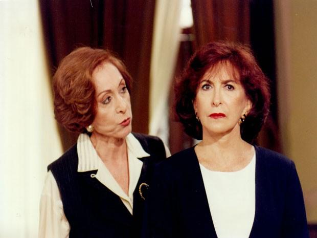 Aracy Balabanian (Filomena) e Tereza Rachel (Francesca) na novela