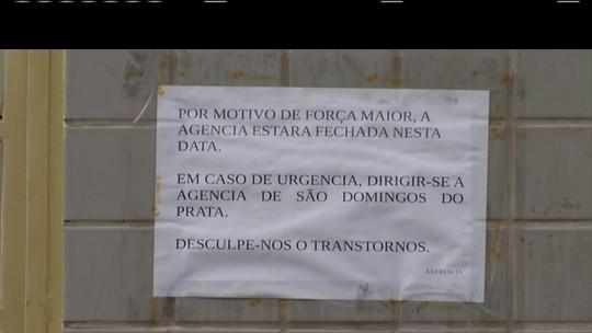Após assaltos, banco e agência dos Correios são fechados em Dionísio