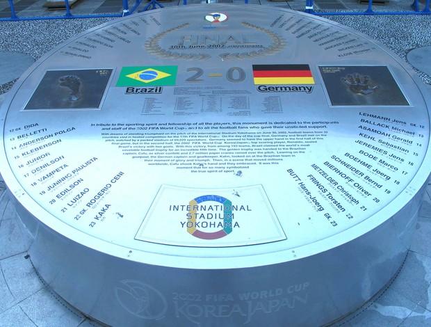 palco do penta, Yokohama, Memorial Copa 2002 (Foto: Cahê Mota / Globoesporte.com)